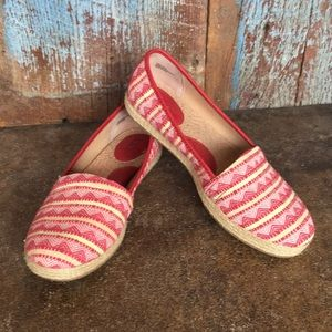 Born Red Espadrille Slip on Shoes